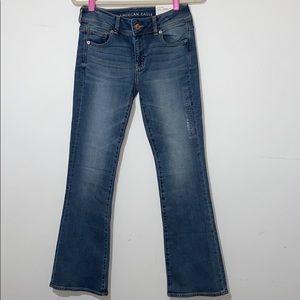 NWT American Eagle Super Stretch Kickboot Jeans 4